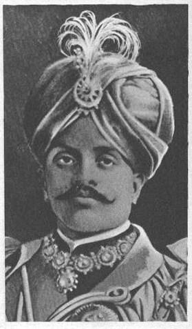 Français : la maharadjah de Mysore, texte sous...