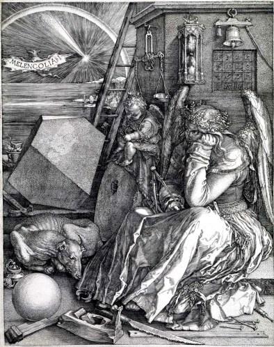 Melancolia I, gravura de Albrecht Dürer, de 1514