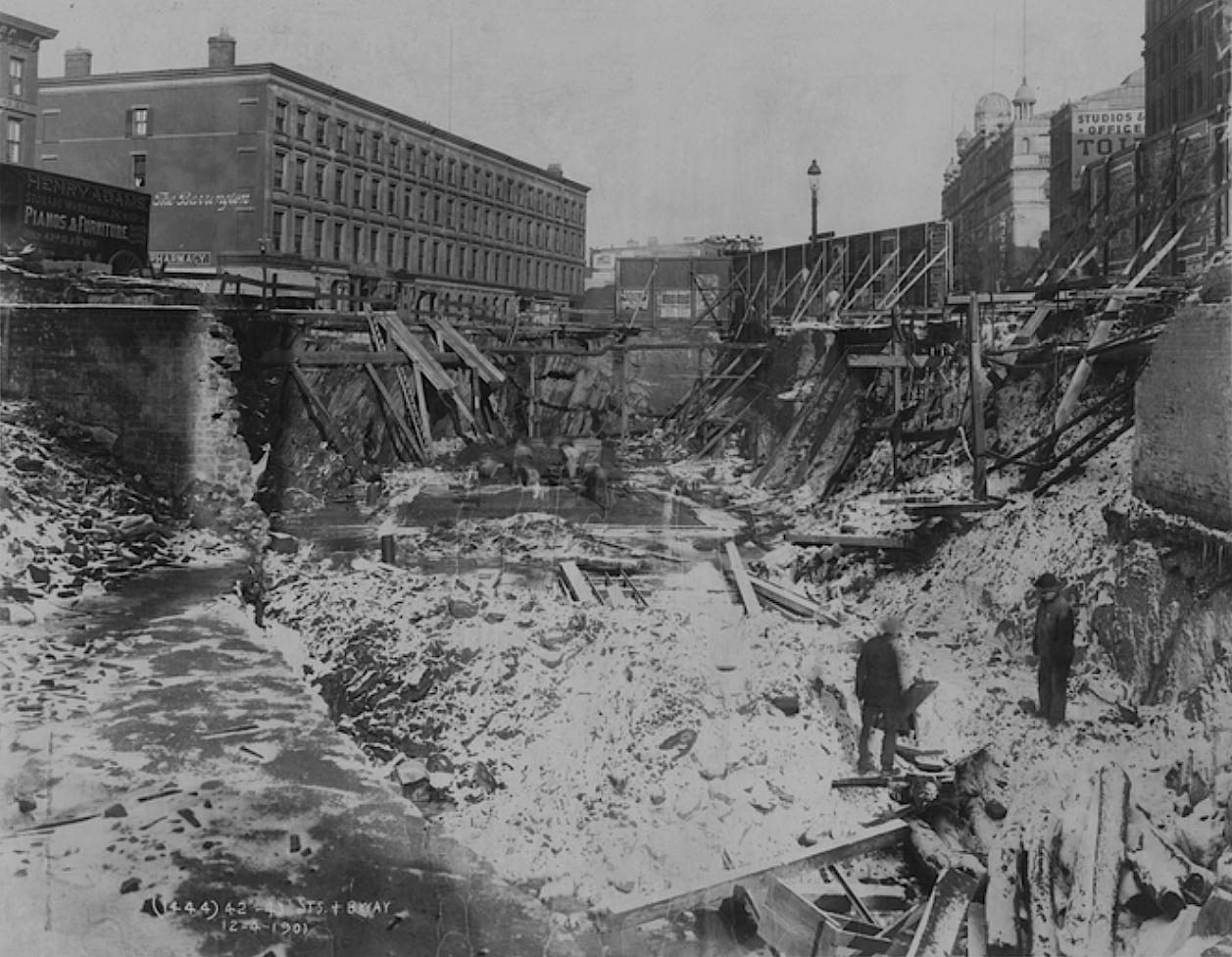 FileLongacre Square Manhattan Subway Excavationjpg