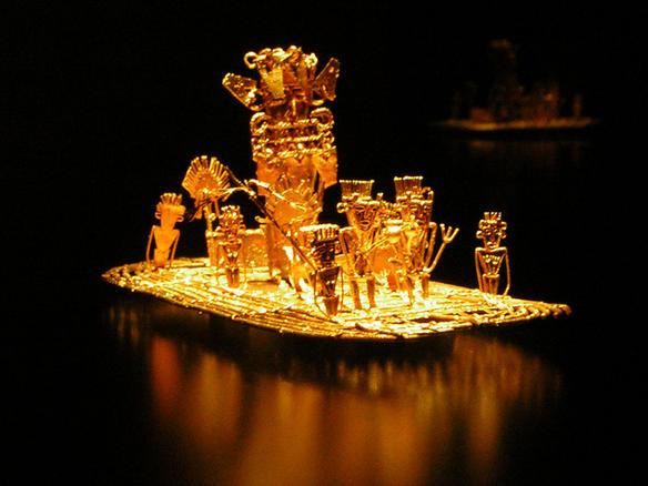 File:Muisca raft Legend of El Dorado Offerings of gold.jpg