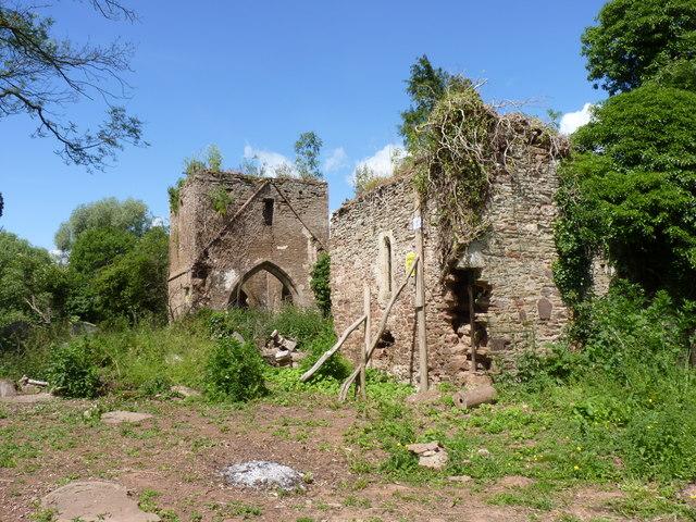 The ruins of St Mary's parish church, Avenbury, Herefordshire