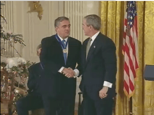 President Bush awarding the Presidential Medal...