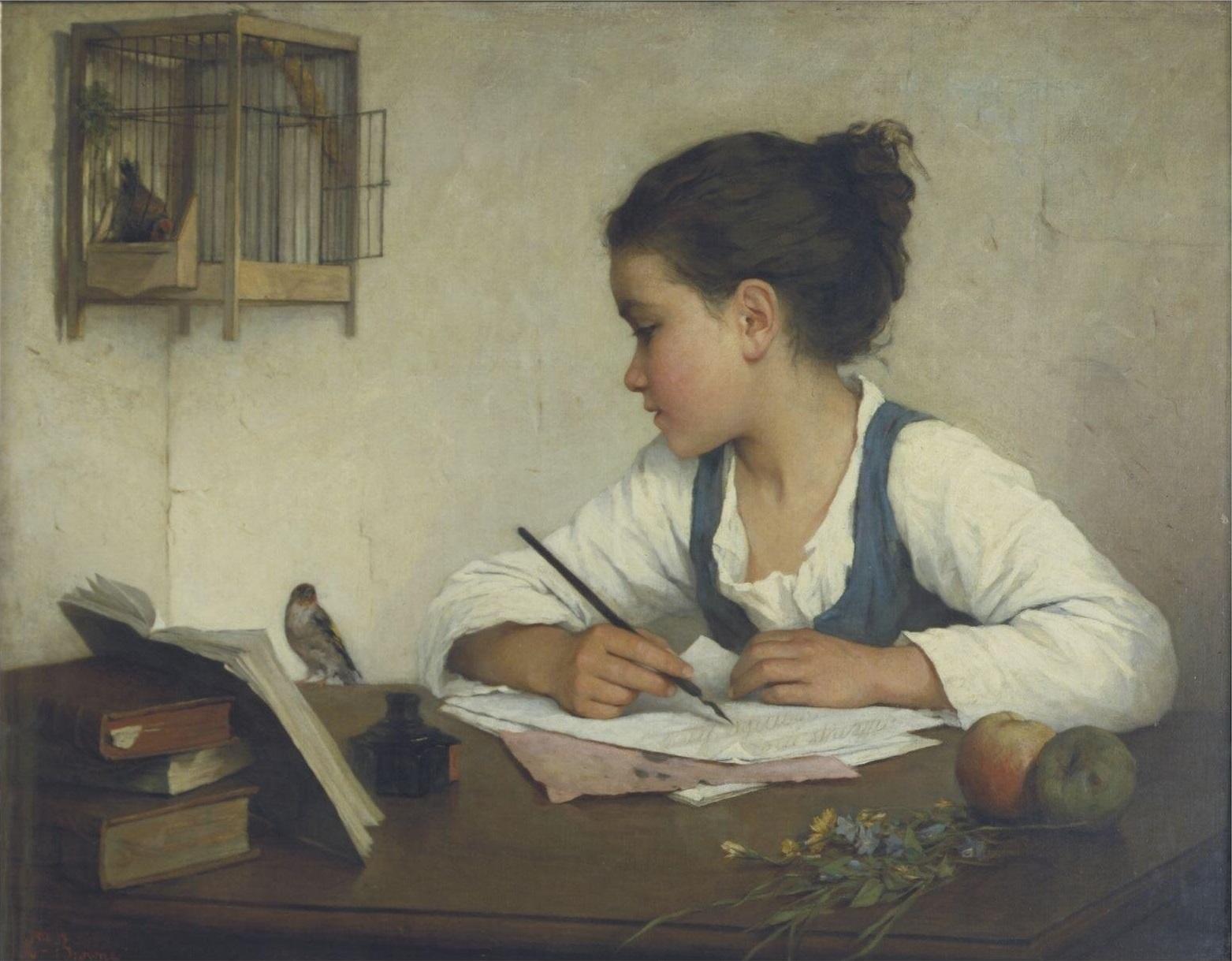 File:Enfant écrivant-Henriette Browne.jpg