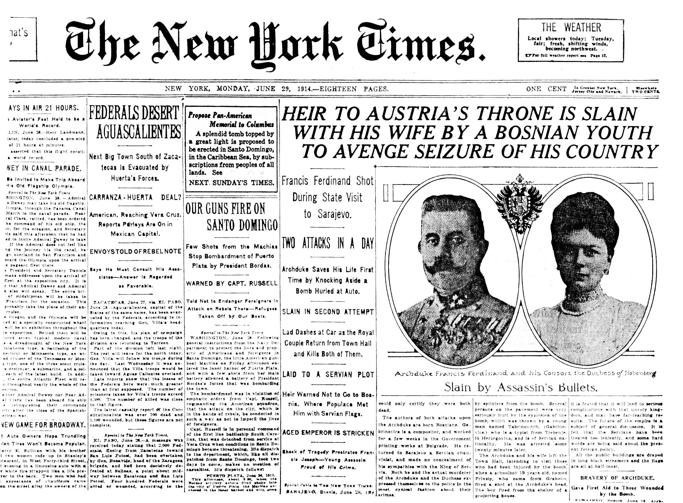 File Headline Of The New York Times June 29