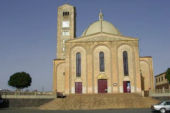 An Ethiopian Catholic Church in Asmara, Eritrea, one of the denominations prayer is requested for this week