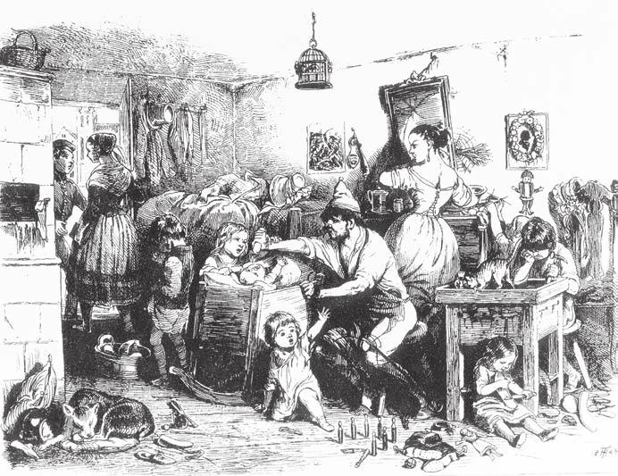 File:Theodor Hosemann, Armut im Vormärz, 1840.png