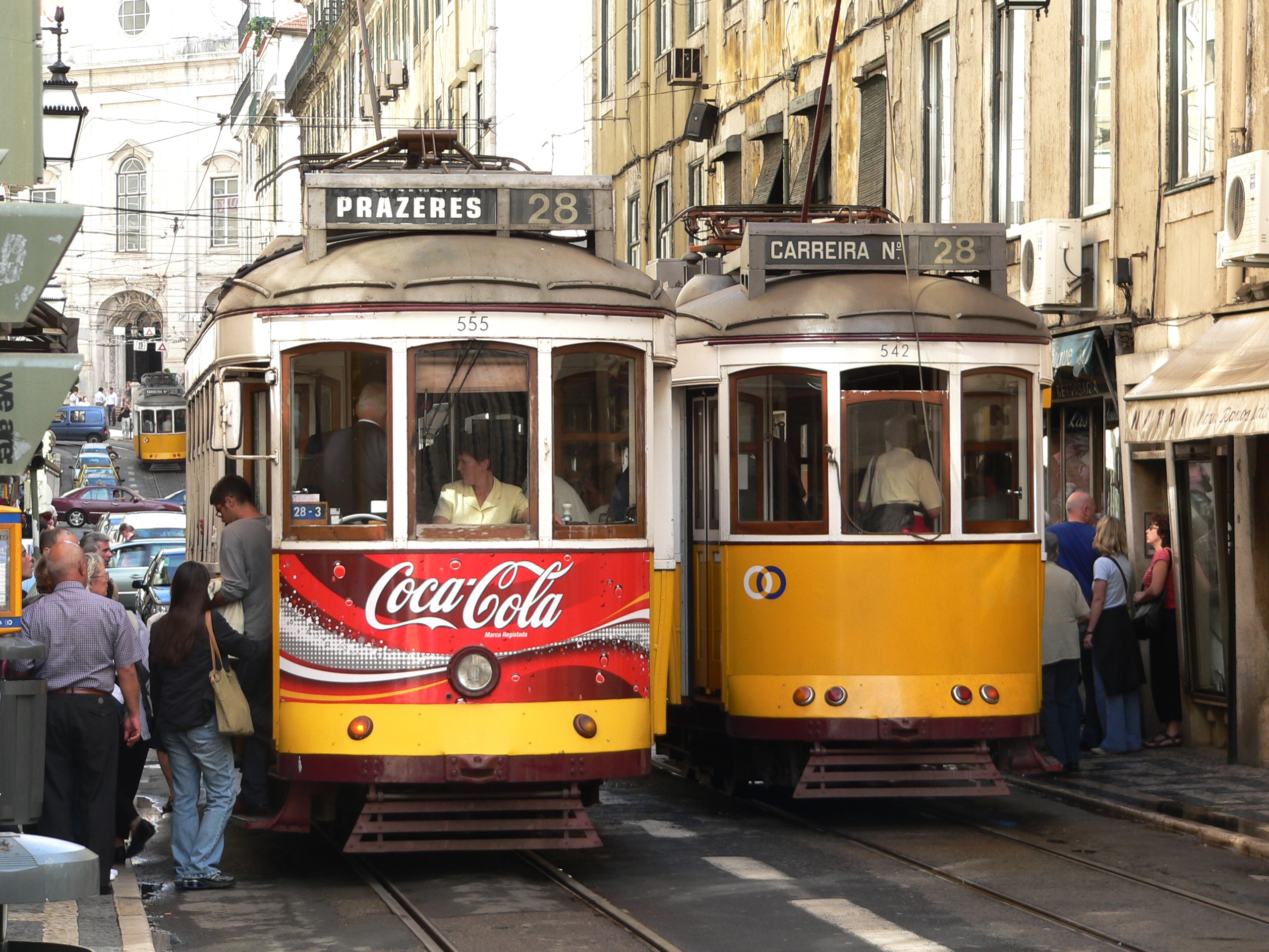 lisbon portugal old town tram
