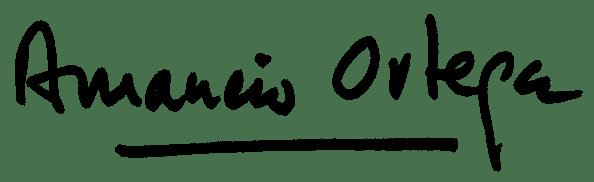 Amanicio Ortega Signature