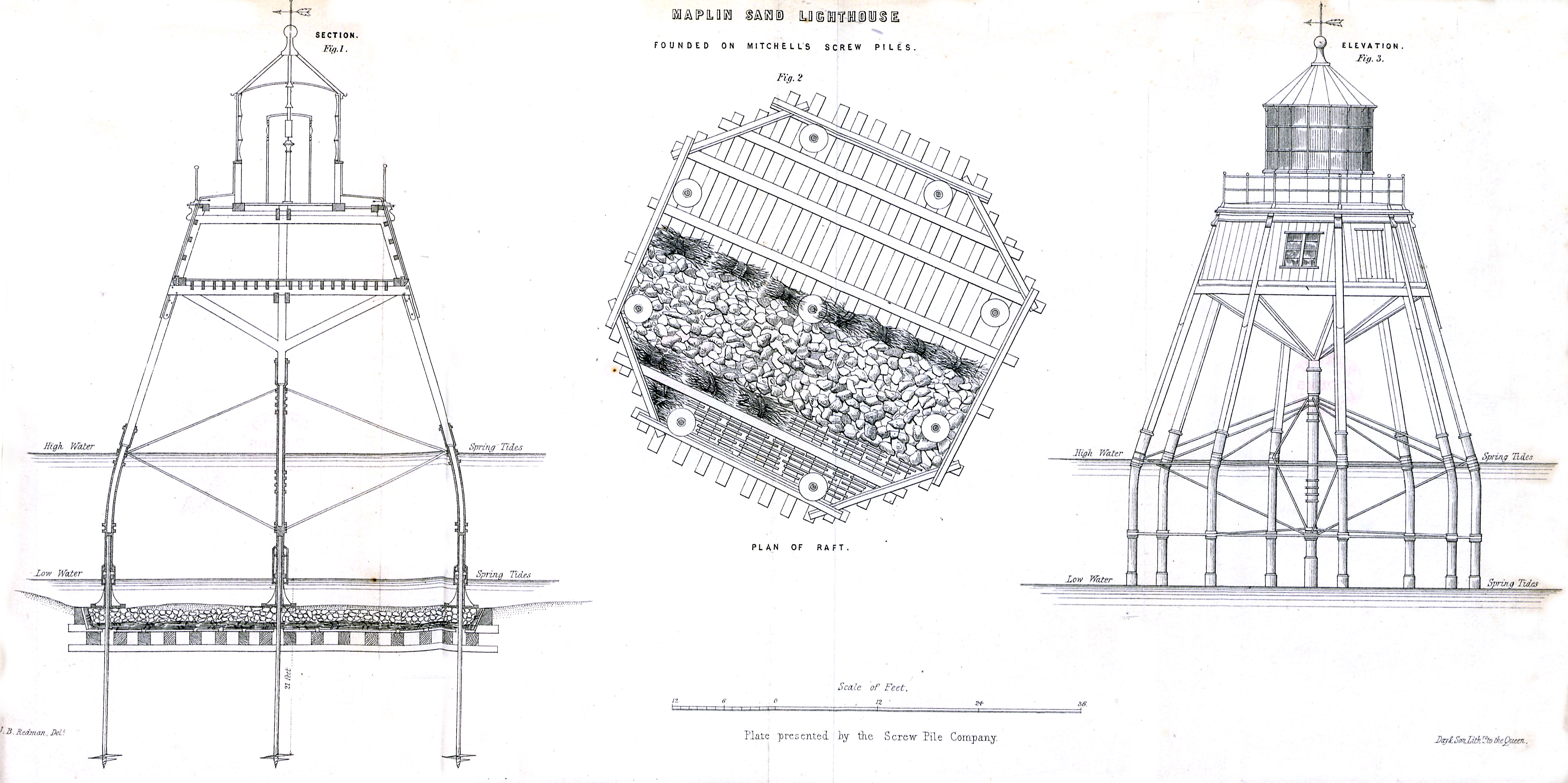File Maplin Sands Lighthouse Founded On Mitchells Screw