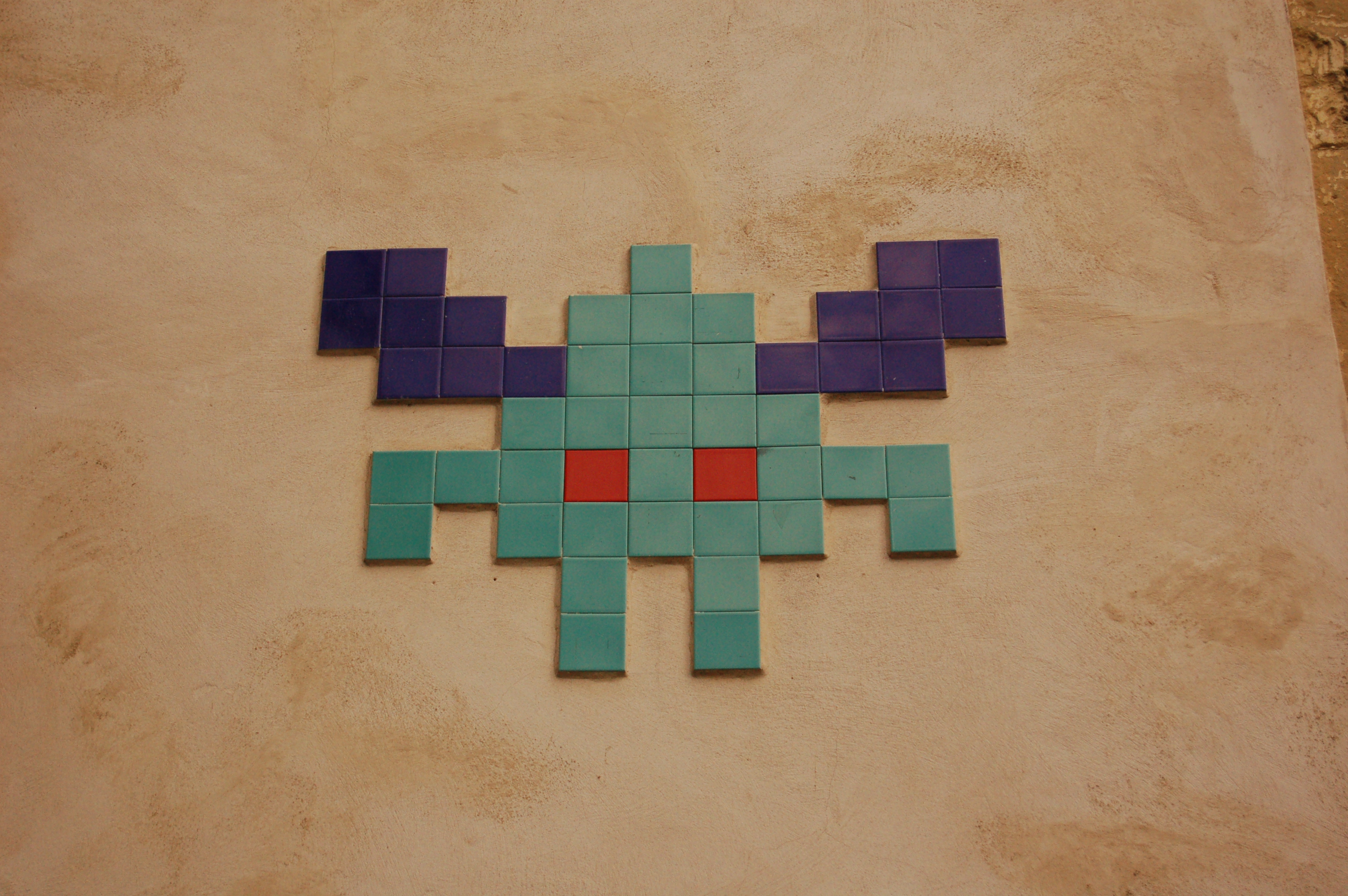 Invader uses iconic characters from video games in mosaic form