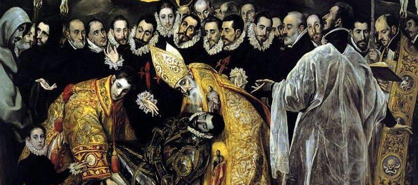 Detalle de El entierro del Conde de Orgaz (El Greco)
