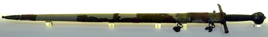 La spada di Cangrande, esposta presso il museo di Castel Vecchio