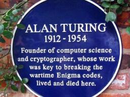 Turing Plaque