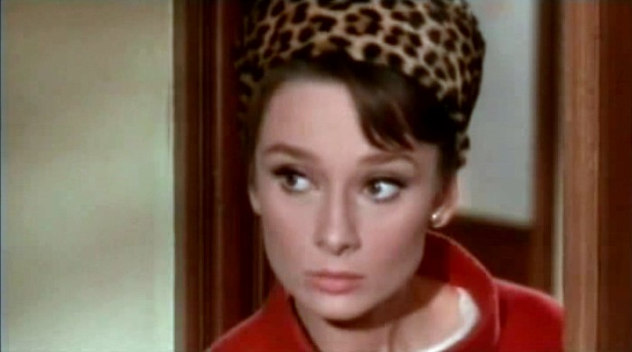 Screenshot of Audrey Hepburn from the film Charade