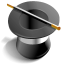 Top hat as an icon for magic