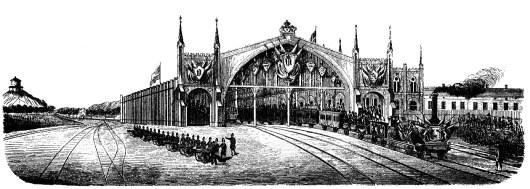 Stationen 1858, sedd från väster