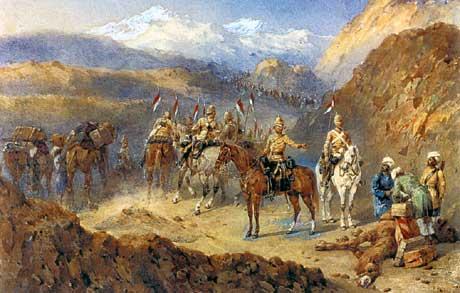 Battle of Kandahar, dipinto di Caton Woodville (1856-1927). Immagine di dominio pubblico.