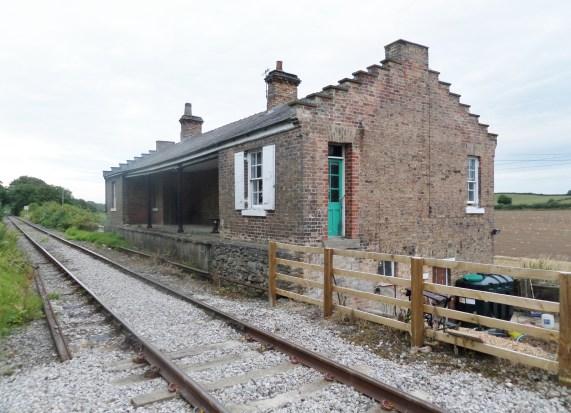 File:Crakehall railway station, view east, Wensleydale Railway