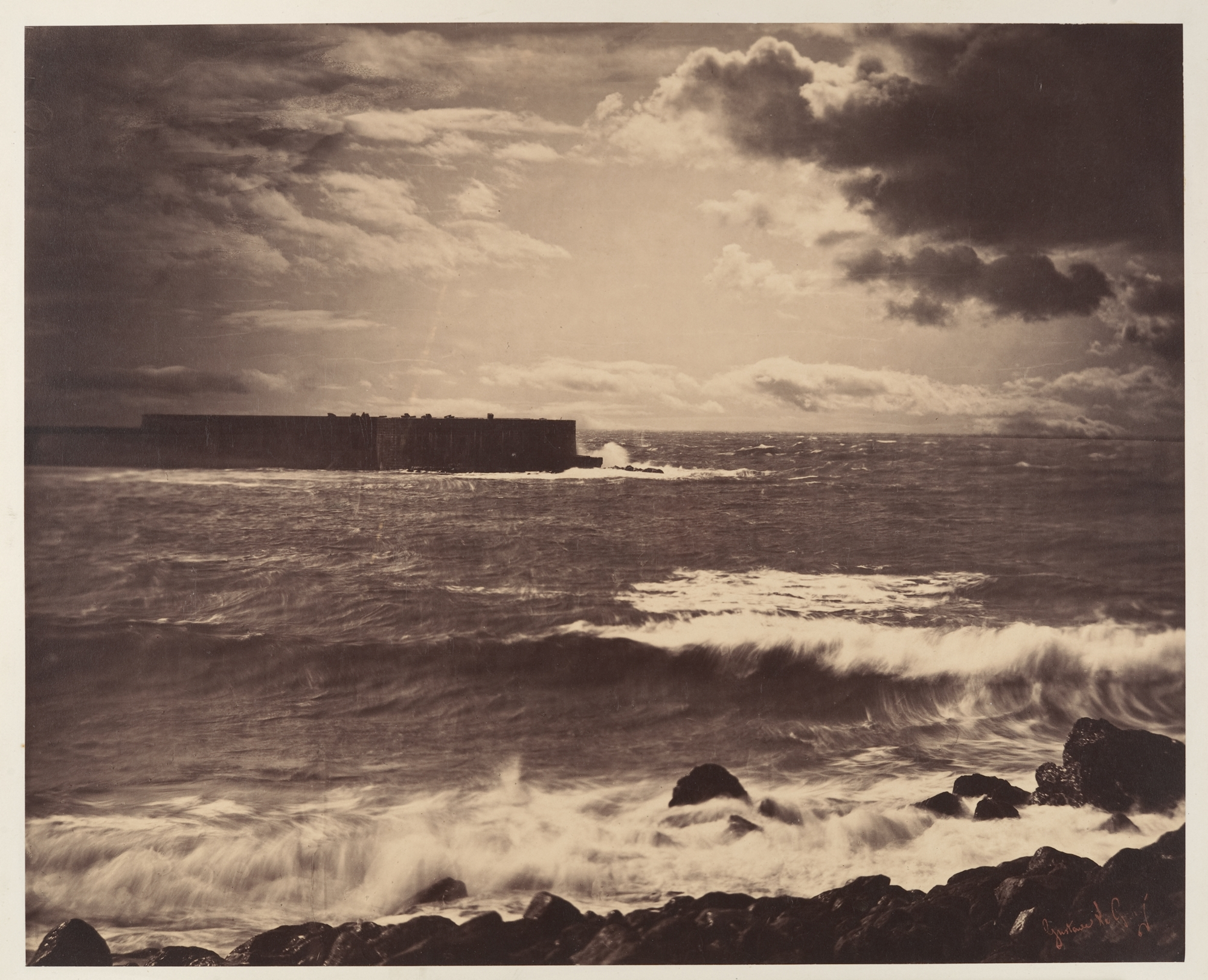 The Great Wave, Gustave Le Gray, Sète, 1857