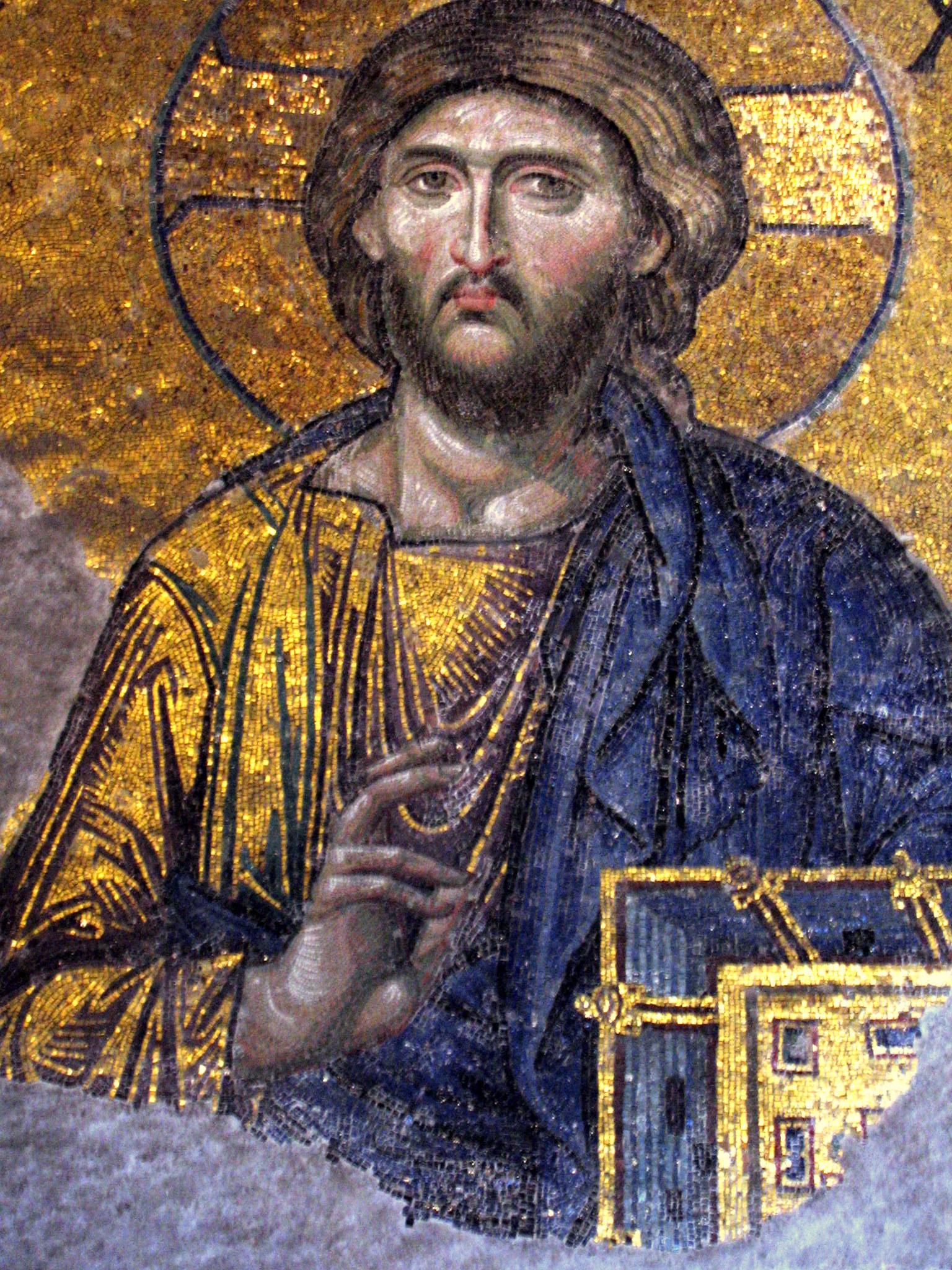 Plik Hagia Sofia Mosaic Jesus Wikipedia Wolna Encyklopedia
