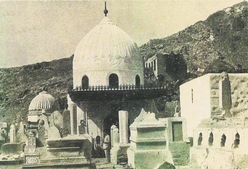 Khadijah's mausoleum in Mecca before destruction.