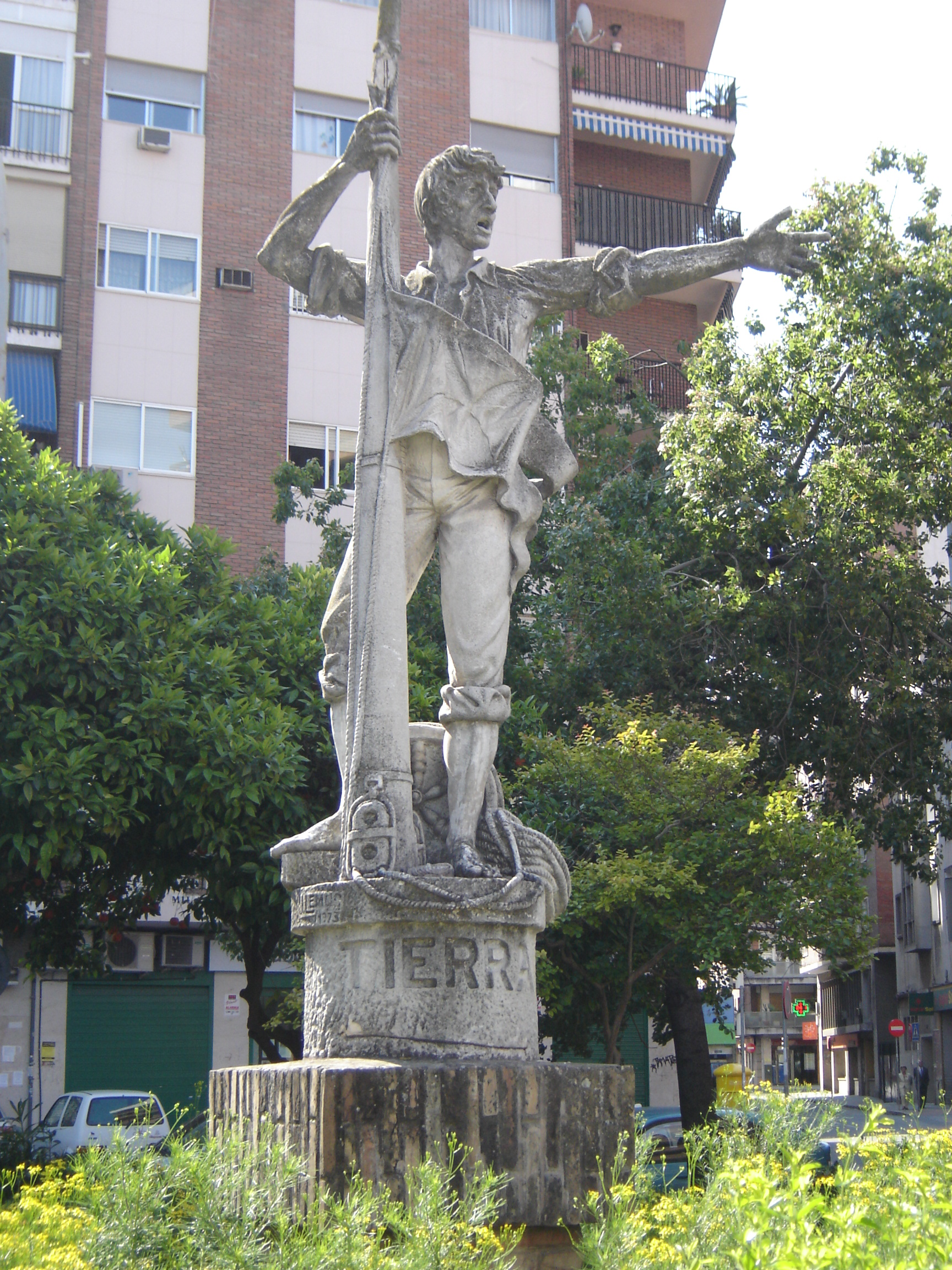 Pomnik Rodriga de Triany w Sewilli