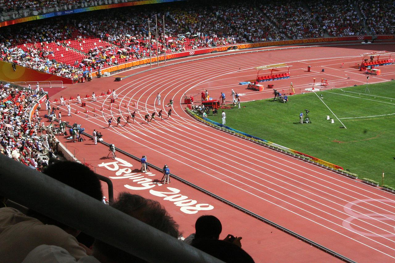 Athletics Heats 2008, Beijing National Stadium.