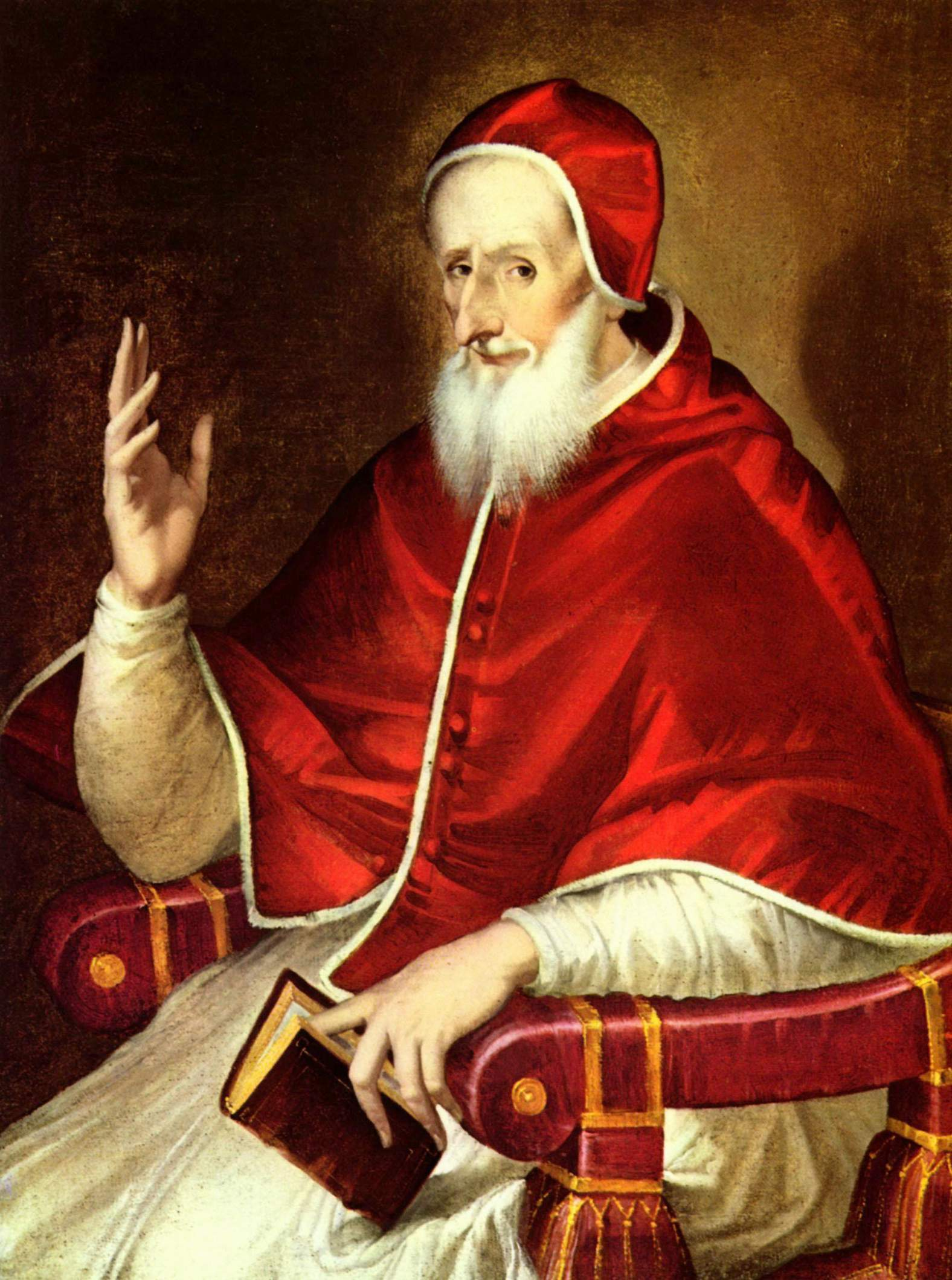 Portrait of Pope St. Pius V by Greco from Wikipedia.