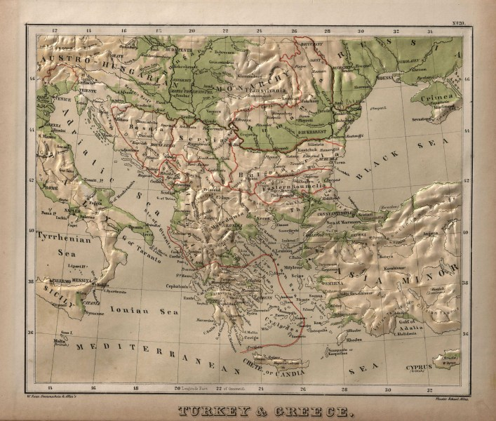 File Greece Physical Map 1880 jpg   Wikimedia Commons File Greece Physical Map 1880 jpg