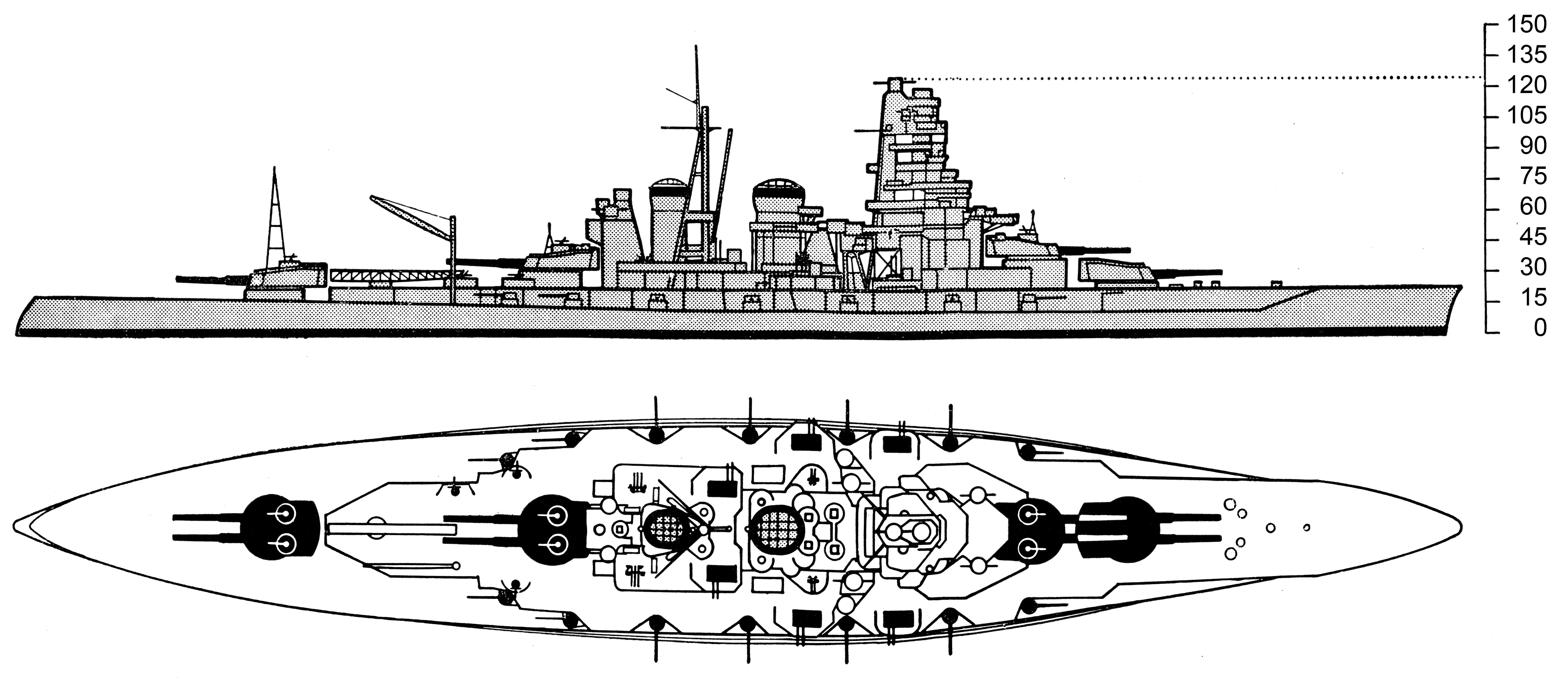 File Kongo Class Battleship Drawing