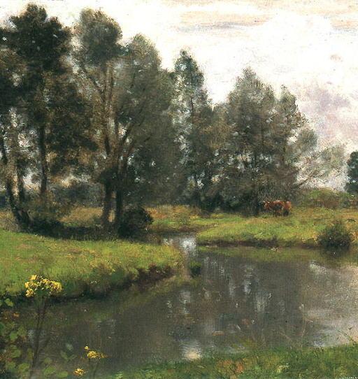 Otto Scholderer Englische Landschaft