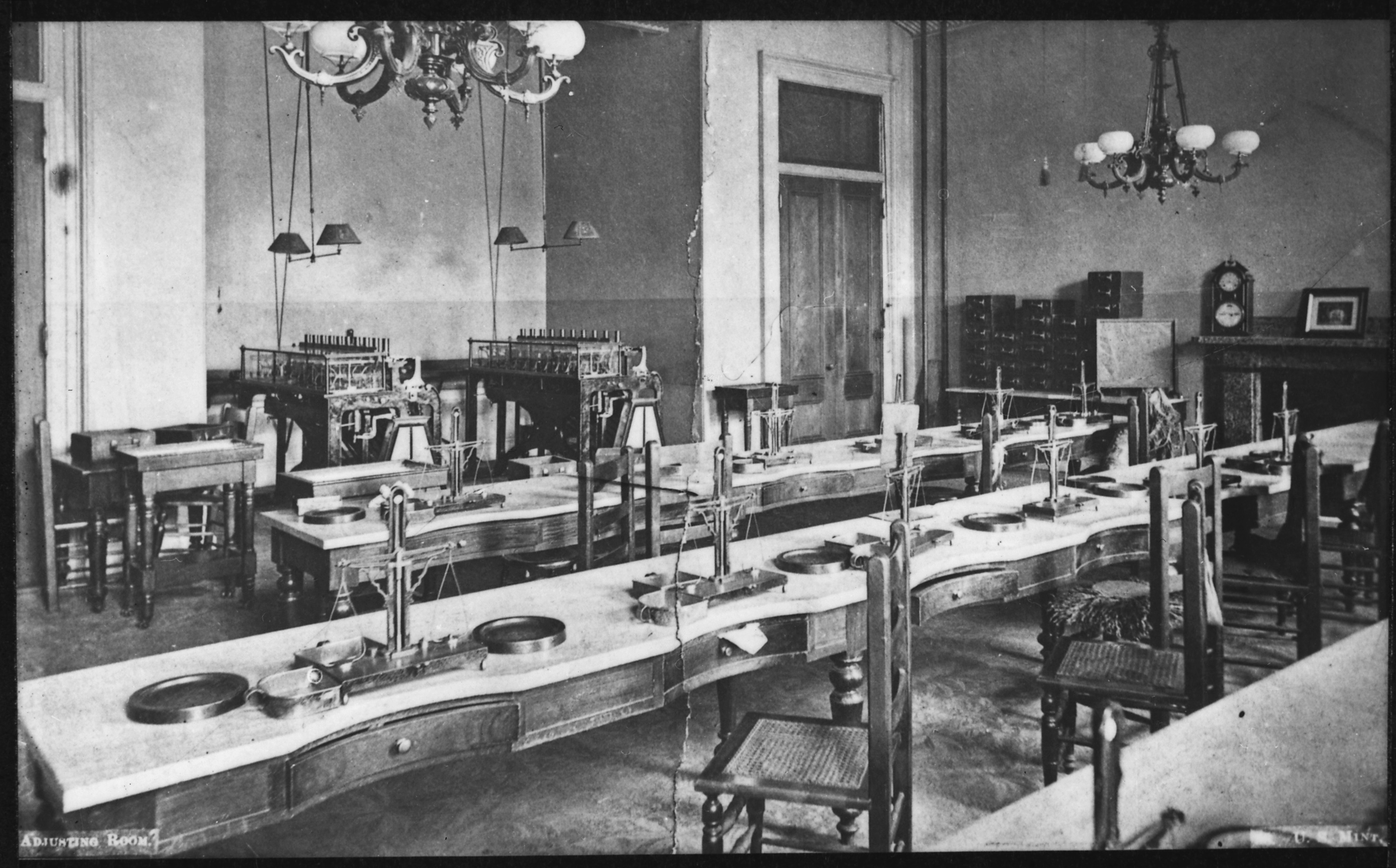 File Photograph Of The San Francisco Mint Coin Adjusting