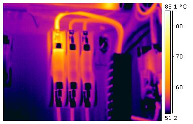 Electrical fault revealed through Infrared Thermography technology