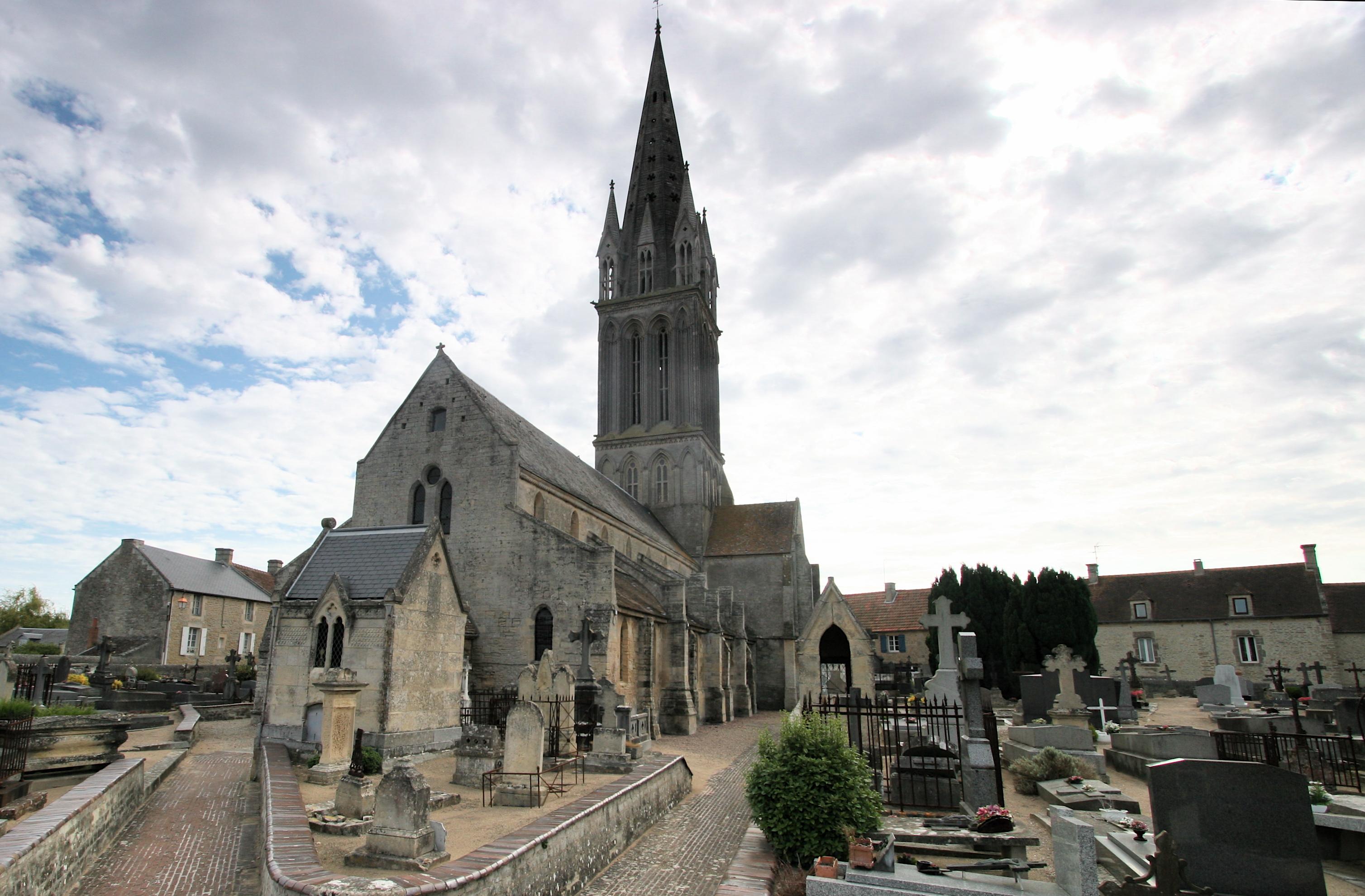 Eglise de Langrune sur Mer, Calvados, France