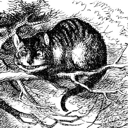 Grinsekatze (orig.: Cheshire Cat) von John Tenniel
