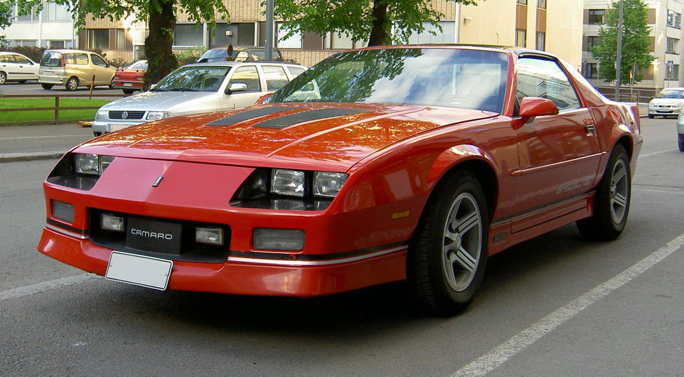 camaro eighties cars