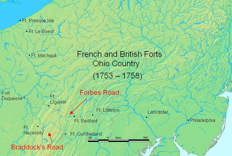 Ohio Country French And Indian War Map