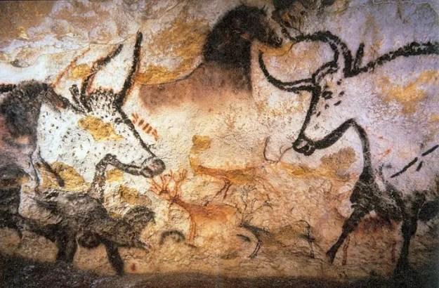 Intensjonell kunst fra Lascaux-hulene (Foto: Prof saxx, Wikimedia Commons)