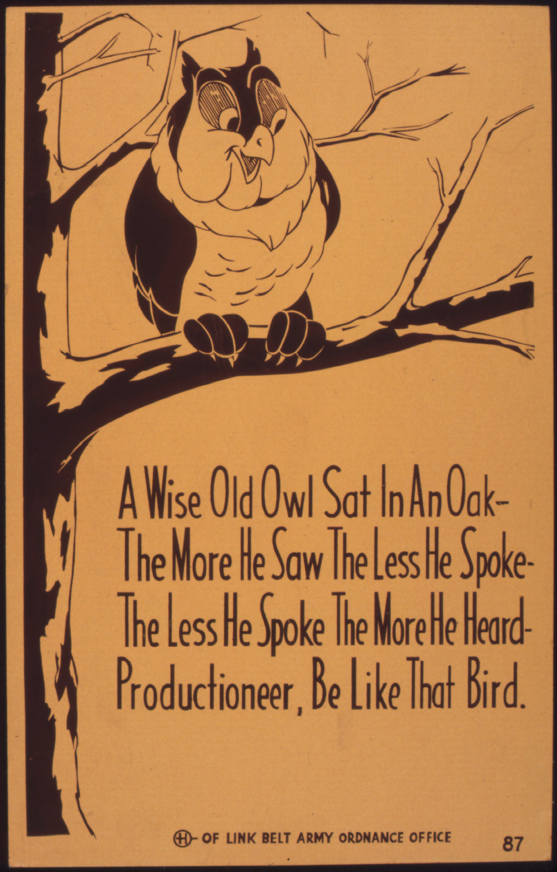A Wise Old Owl Orange Marmalade Press