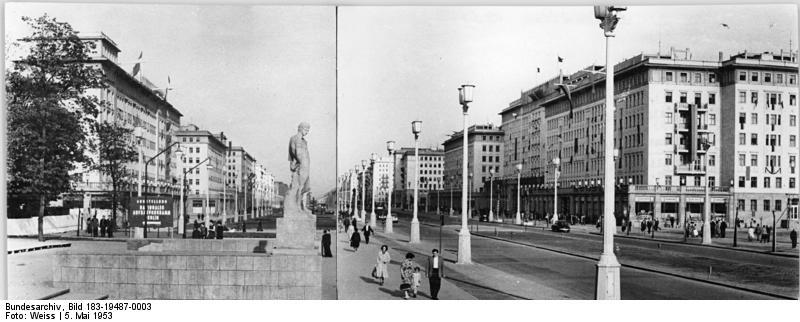 Stalin Allee 1953, heute Karl-Marx-Allee in Berlin