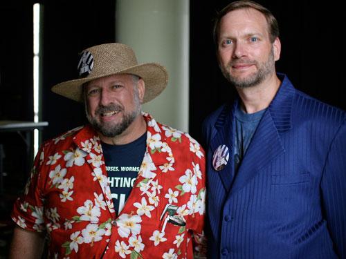 Michael Hart et Gregory Newby en 2006