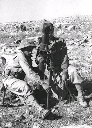 Zionist mortar team outside Zafzaf