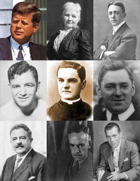 Collage of Irish Americans courtesy of Wikipedia/Wikimedia Commons