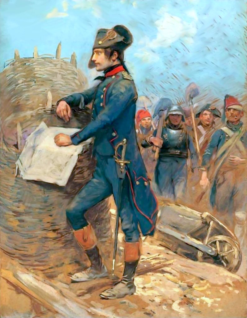 Bonaparte at the Siege of Toulon.
