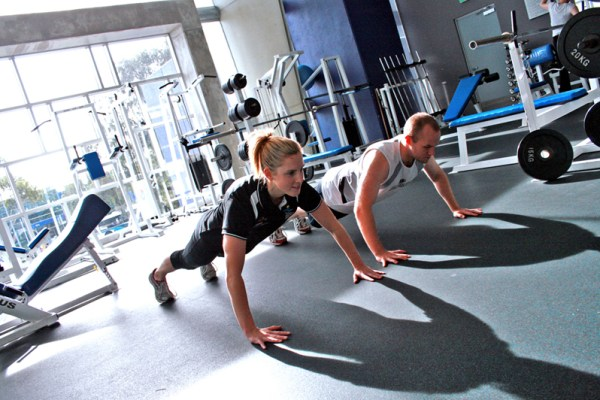 Personal Training at a Gym - Pushups
