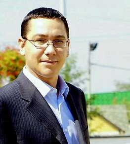 English: Victor Ponta's portrait, president of...