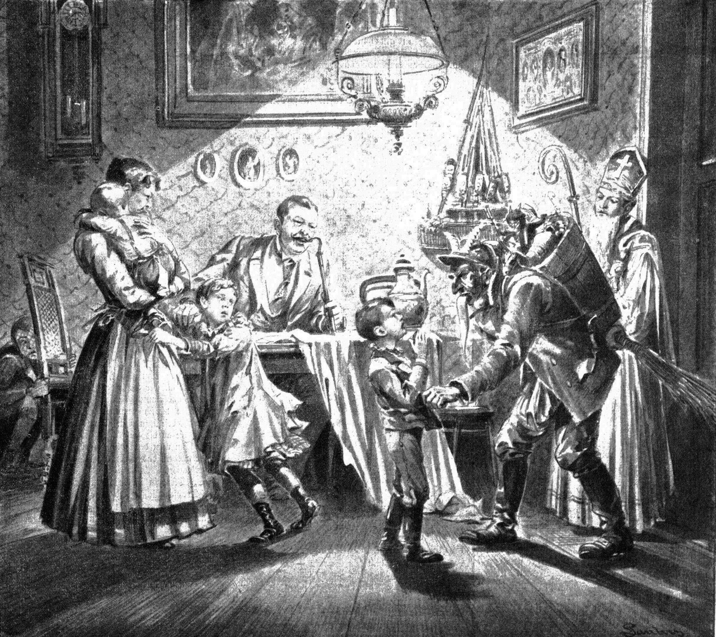 English: Nikolaus and Krampus in Austria. News...