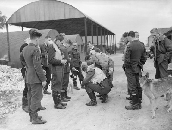 File:Spitfire pilots of No. 19 Squadron RAF gather at Manor Farm