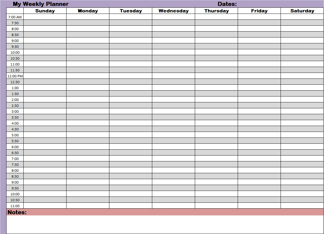File Weekly Planners Printable Planners