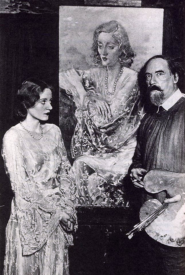 Tallulah and Augustus John with her famous por...